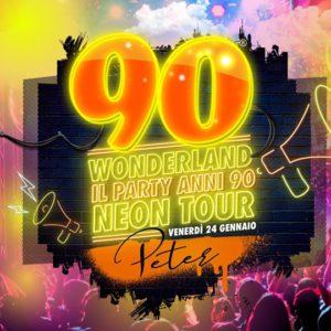 Che bello gli anni 90. Al Peter Pan Riccione si balla con 90 Wonderland Party.