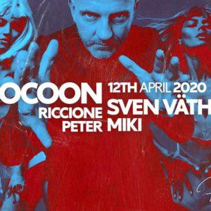Pasqua Peter Pan Riccione 2020 con l'icona della Techno Sven Vath.