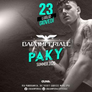 Paky anima il nuovo giovedì della Baia Imperiale