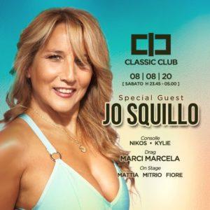 Jo Squillo reginetta della serata al Classic Rimini