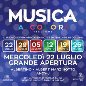 Musica Riccione presenta Musica a colori. Una nuova serata in compagnia della musica elettronica