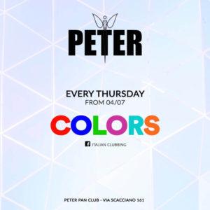 Tutti i giovedì si balla al Peter Pan Riccione con il Color Party