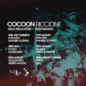Cocoon Closing party alla Villa delle Rose