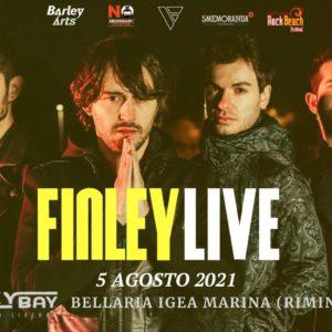 Tornano in Riviera i Finley. Super concerto live al Beky Bay Bellaria.