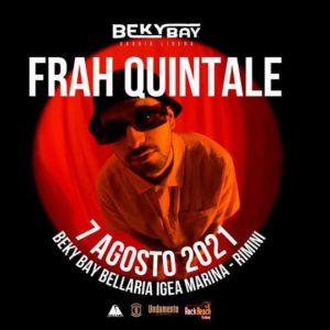 Fraj Quintale in concerto sulla spiaggia del Beky Bay