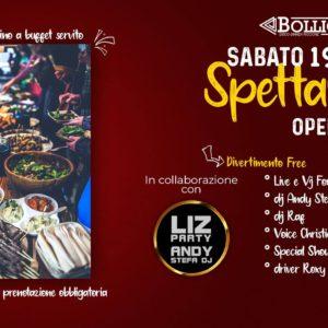 Nuovo sabato Spettagoloso al Bollicine Riccione con Andy Stega