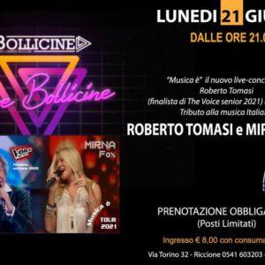 Roberto Tomasi e Mirna Fox in concerto al Bollicine Riccione.