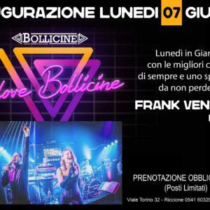 Torna il lunedì Bollicine Riccione con Frank Ventura