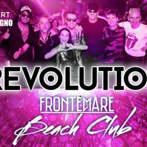 Sabato Frontemare Rimini in compagnia con la live band Revolution