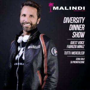 Tutti i mercoledì Diversity Dinner Show al Malindi Cattolica.