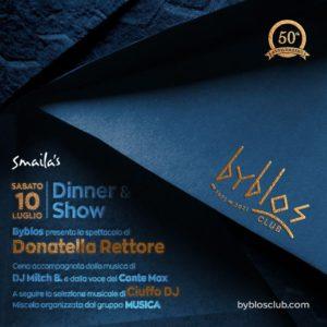 Cena e spettacolo al Byblos Riccione con Donatella Rettore.