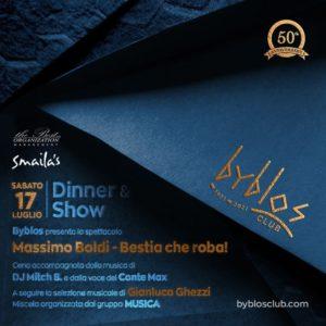 Massimo Boldi è il protagonista della nuova serata al Byblos Riccione.