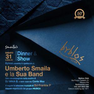 Umberto Smaila e la sua band in concerto per la Notte Rosa al Byblos Riccione.