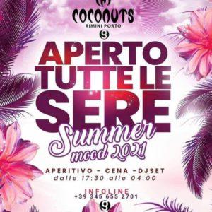 Summer Mood on! Stasera arriva il Coconuts Rimini.