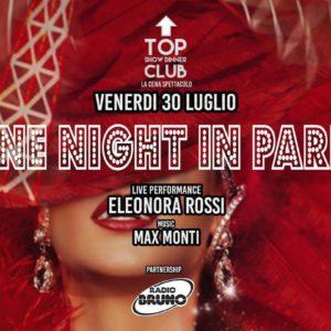 Festa a tema luxory paris al Frontemare Rimini per la Notte Rosa 2021.