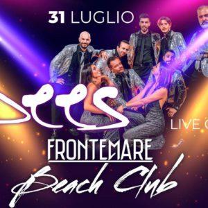 JBees si esibiscono per la Notte Rosa 2021 al Frontemare Rimini.
