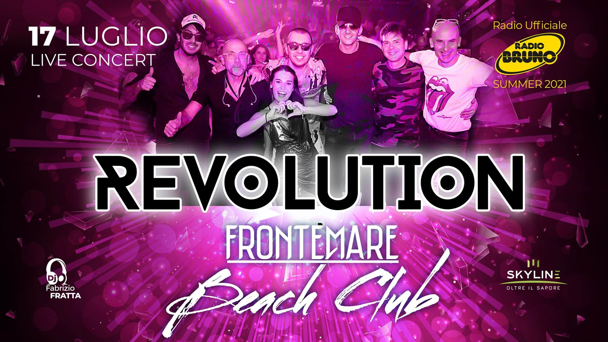 Nuovo live al Frontemare Rimini con i Revolution Band.