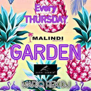 Tutti i giovedì al Malindi Cattolica c'è aria di festa con Garden.