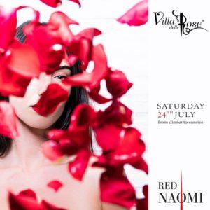 Red Naomi alla conquista del nuovo sabato Villa delle Rose.
