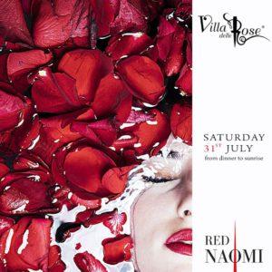 Segui la tua passione anche alla Notte rosa 2021 con Red Naomi alla Villa delle Rose.