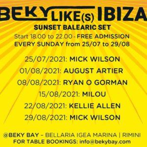 Mick Wilson è protagonista della nuova domenica di sole al Beky Bay Bellaria.