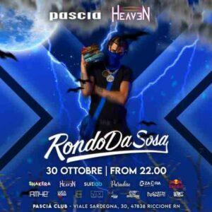 Pascia Riccione anima il sabato di Halloween con Rondo da Soda.